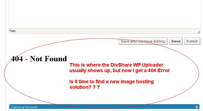 divshare uploader wordpress plugin down