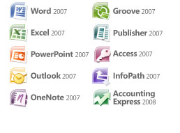 All 10 programs in Office 2007 Ultimate Edition