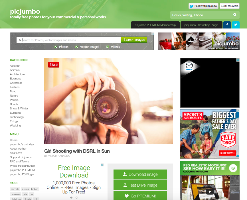 PicJumbo.com royalty free image website